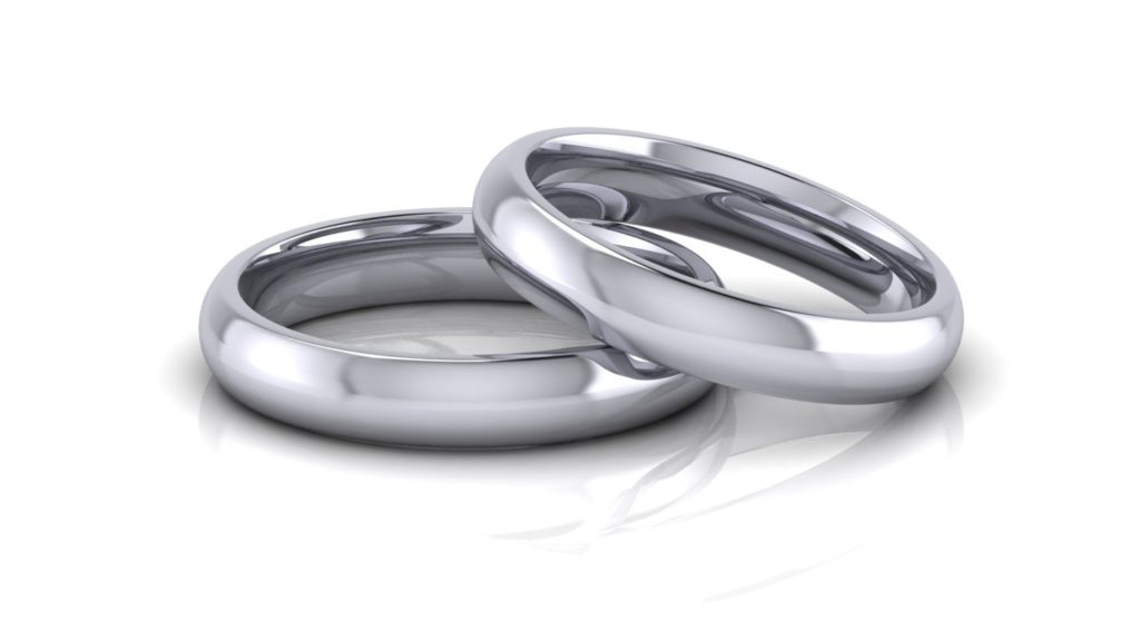 Classic platinum wedding bands
