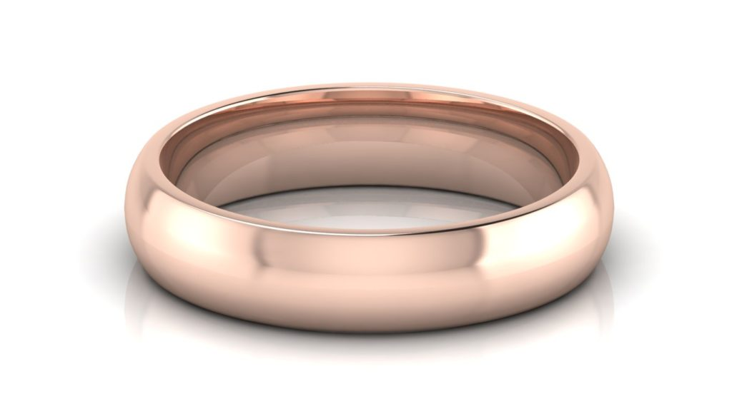 Classic rose gold mens band